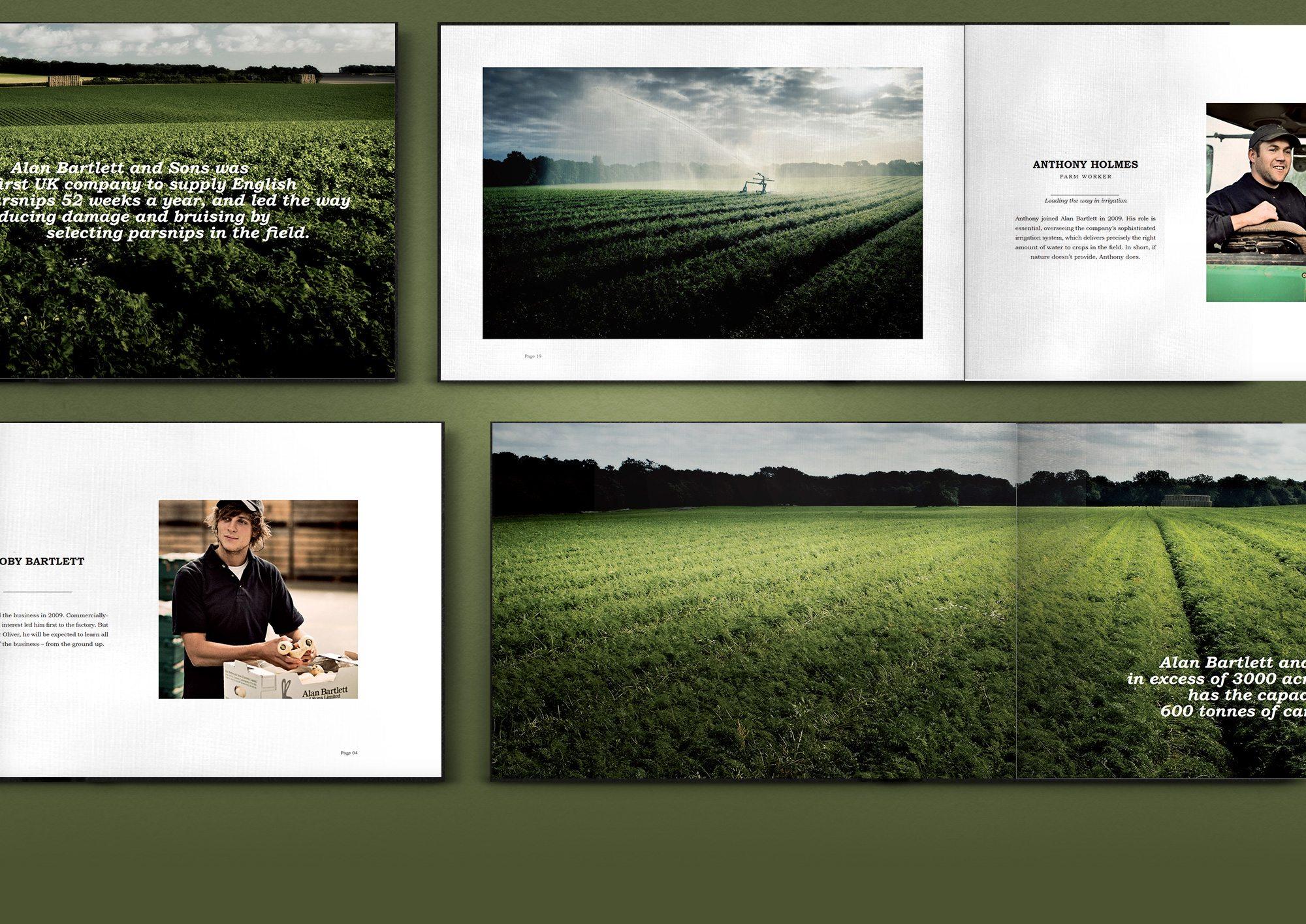 Alan Bartlett Printed Brochure Pages using Julian Calverley Photography