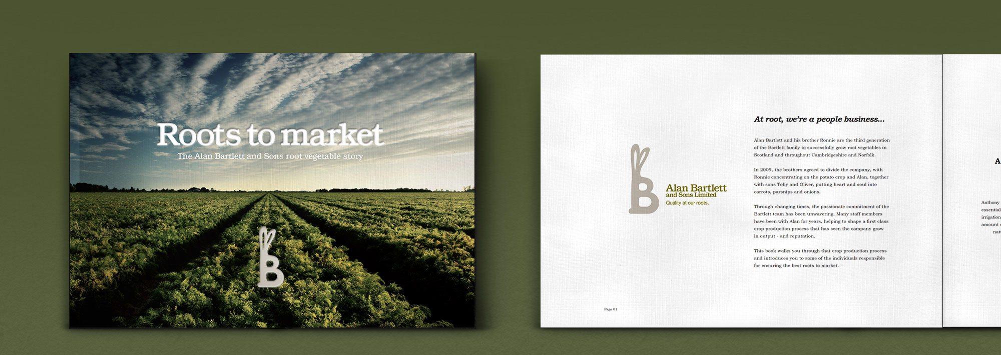Alan Bartlett Carrots Vegetable Brochure Print Design