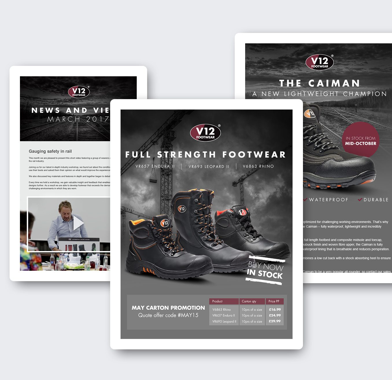 V12 Footwear Email Designs