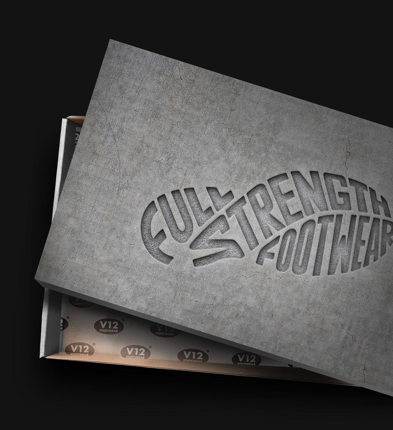 V12 Footwear Shoe Box Packaging Design