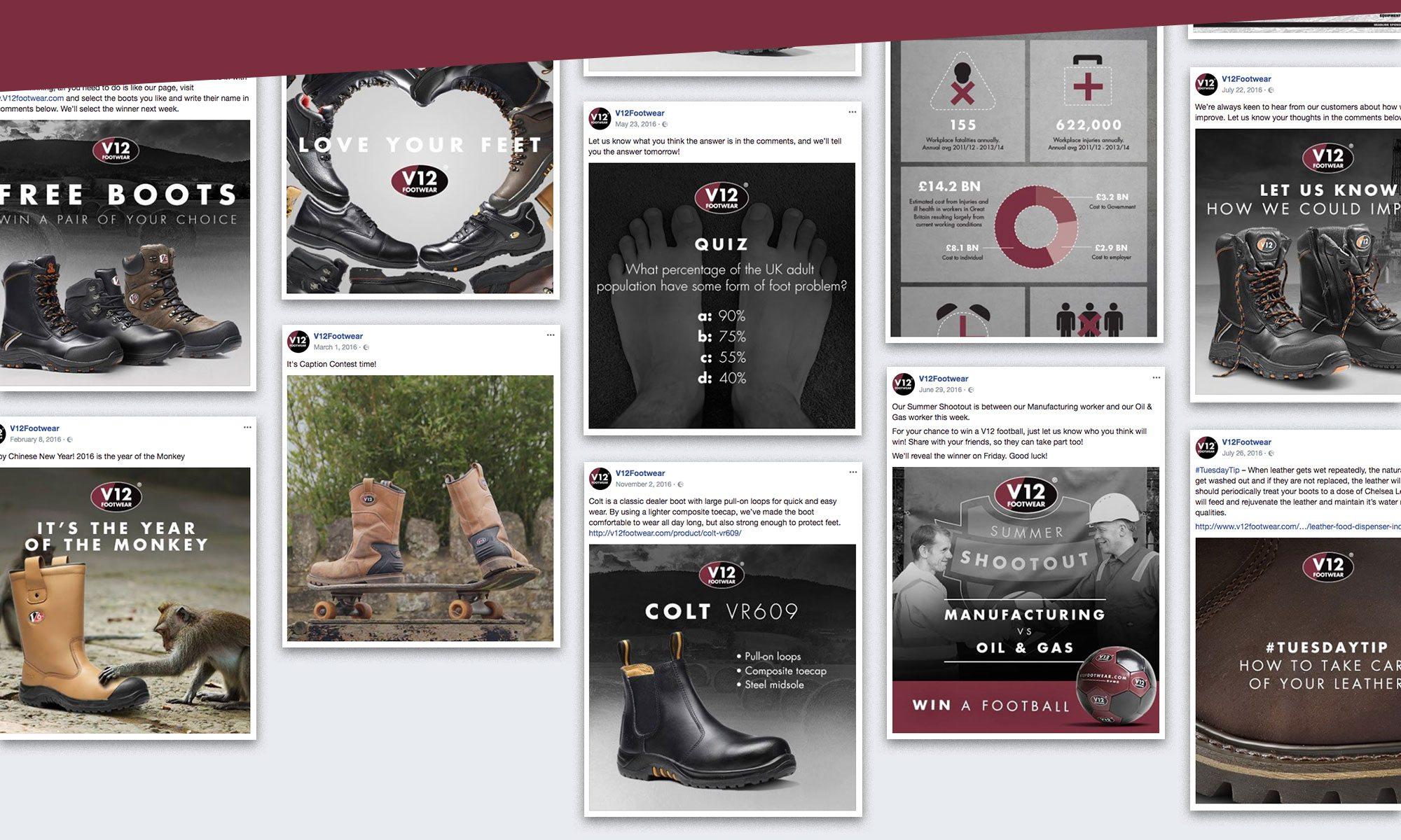 V12 Footwear Social Media Posts
