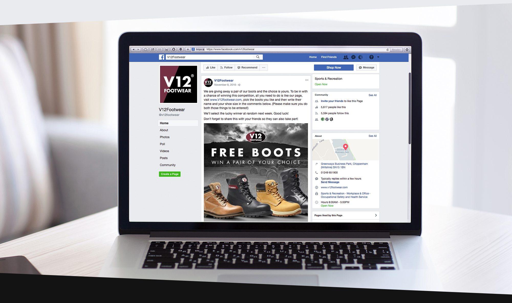 V12 Footwear Website Design