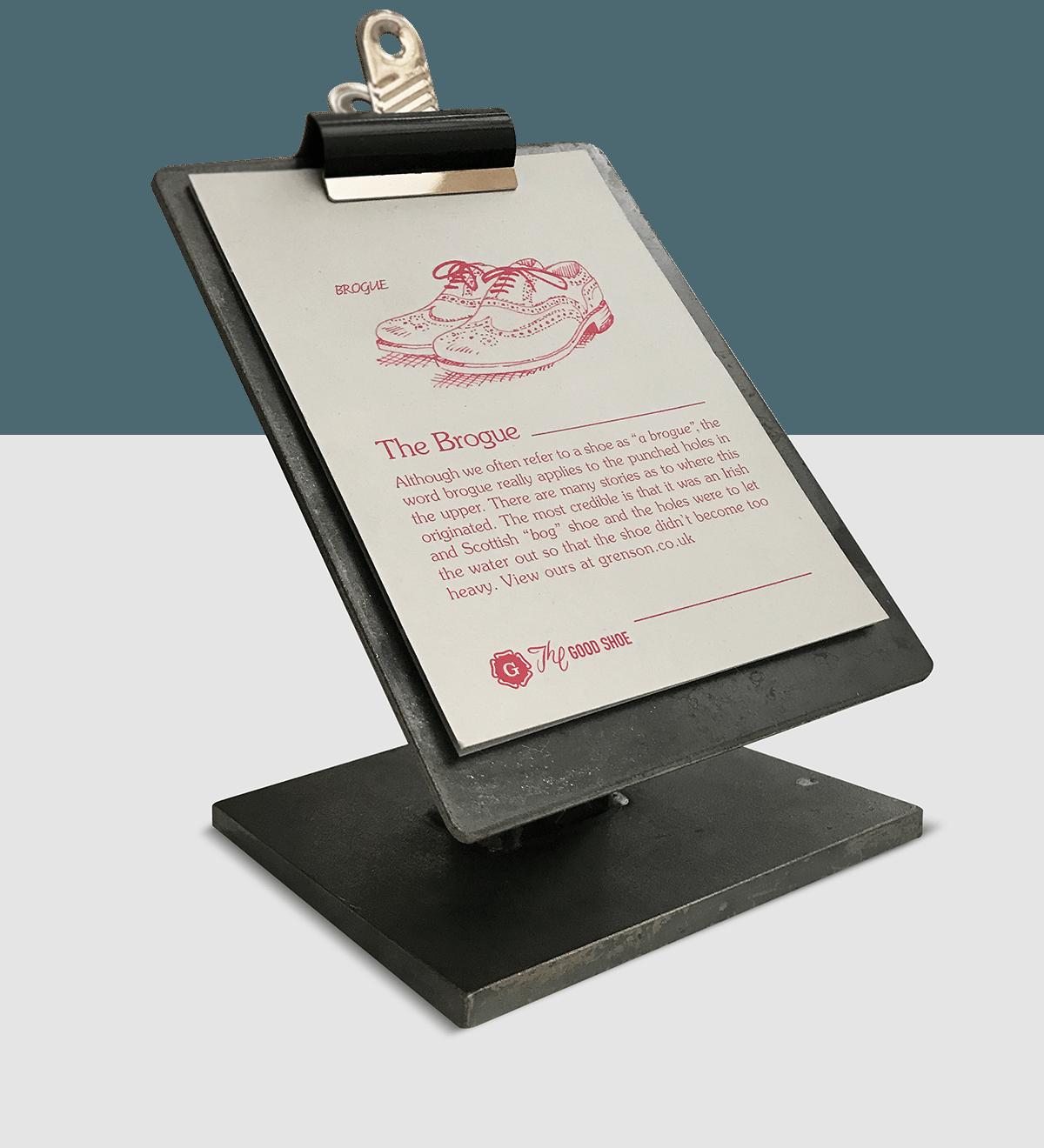 Grenson point of sale design