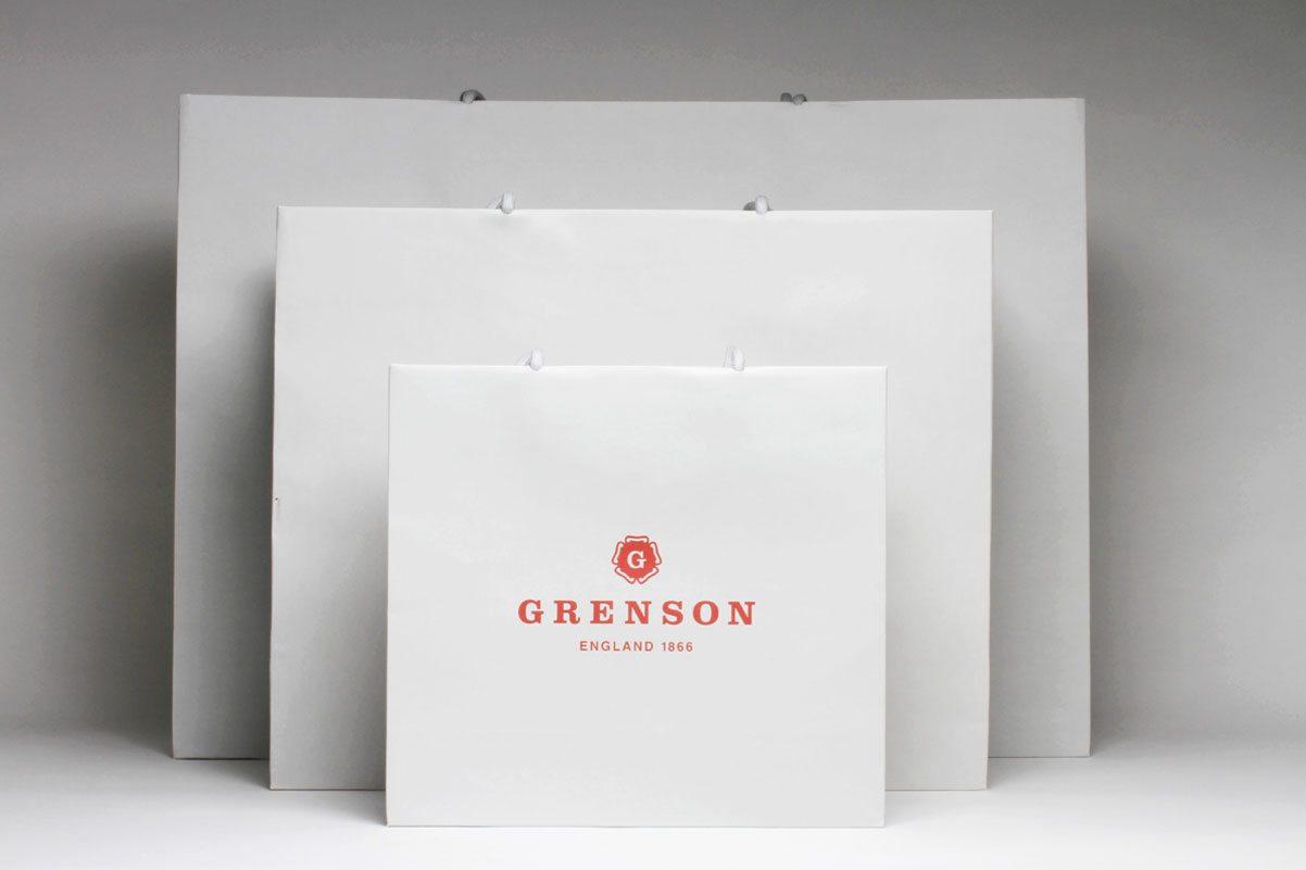 Grenson Branding design bags and packaging