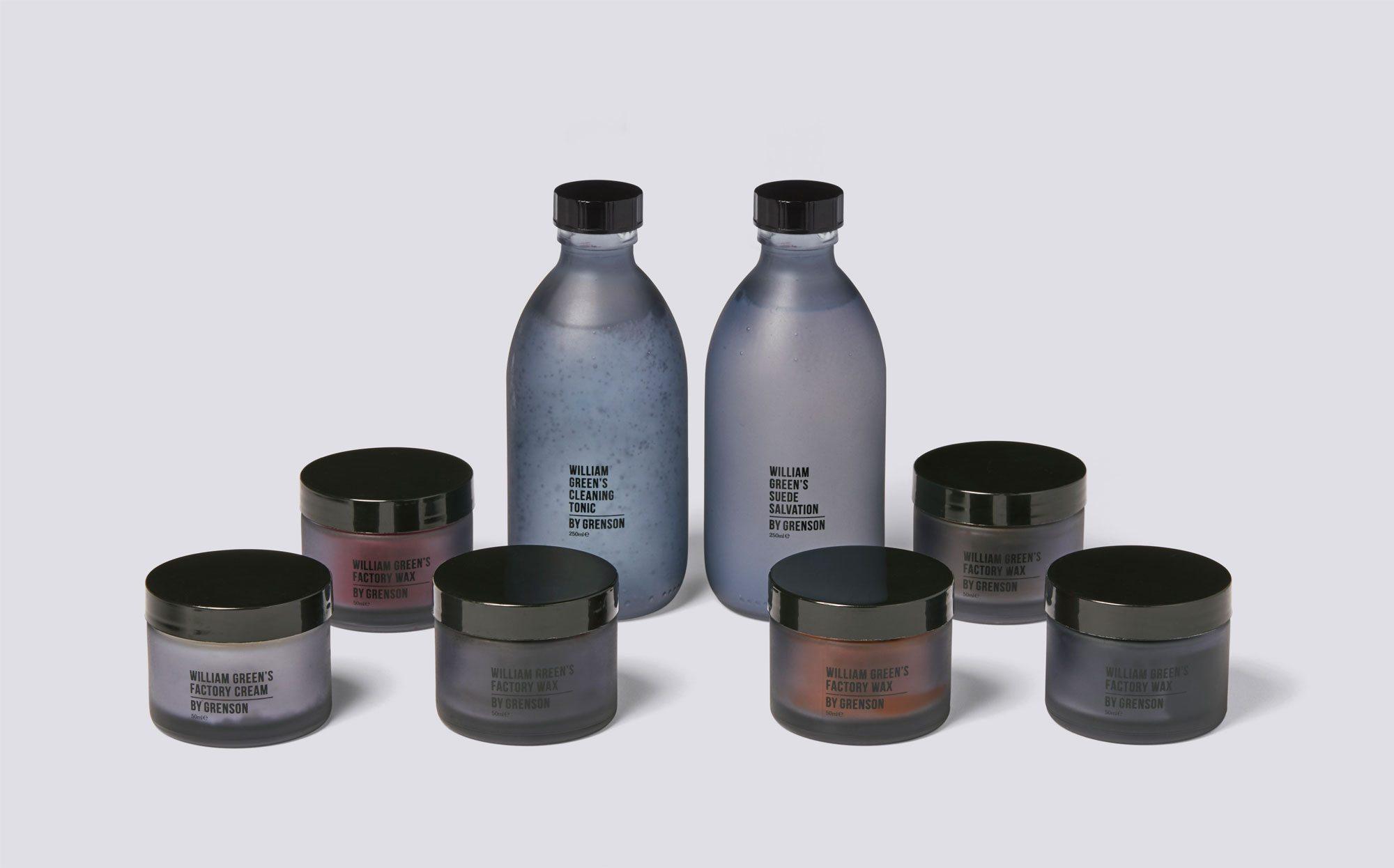 Grenson cleaning range packaging design