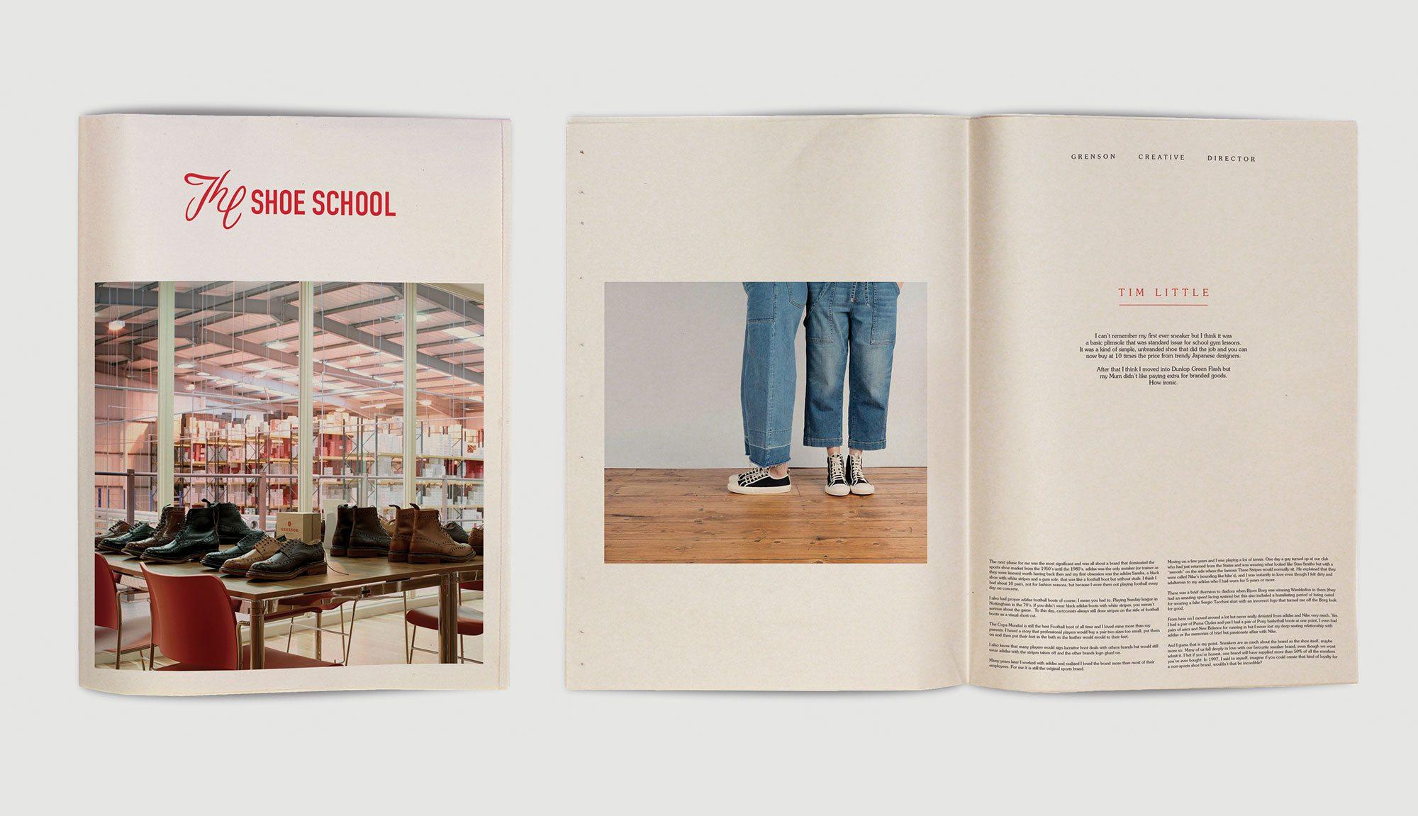Grenson print graphic design newspaper