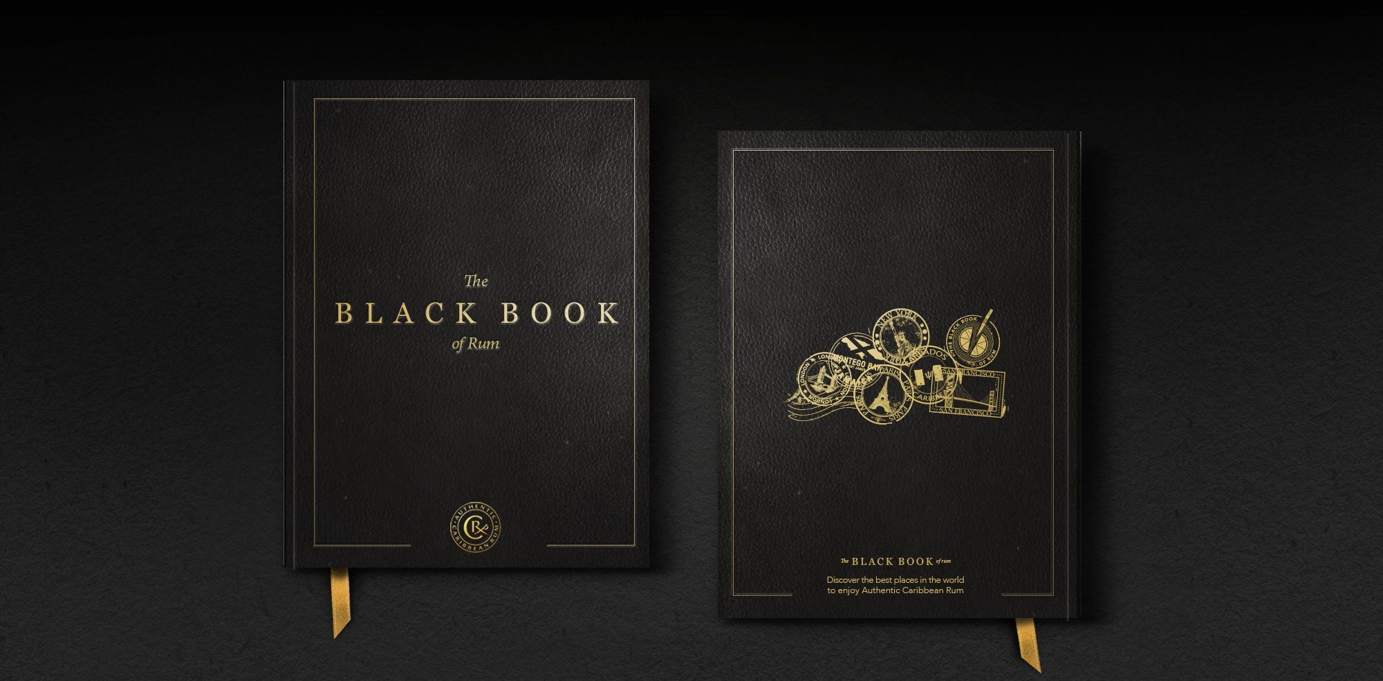 Black Book Of Rum Product Cover Design