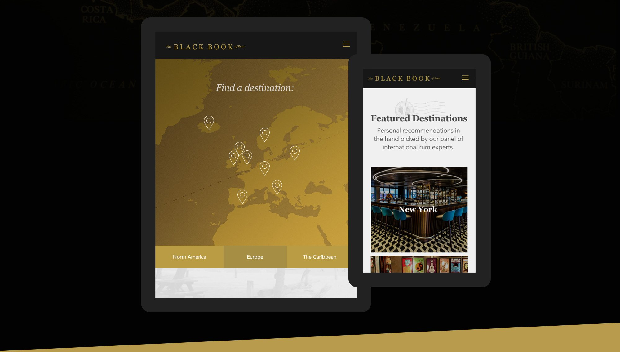 Black Book Of Rum Website Design UX Demo