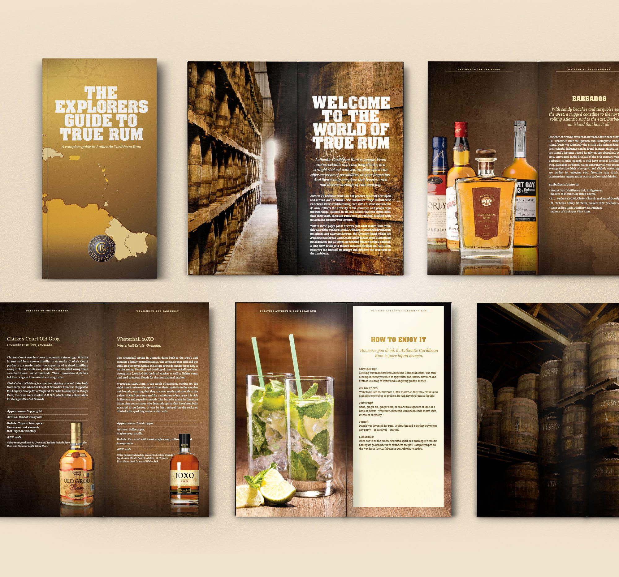 Rum Explorer's Guide Spread Artwork graphic Design