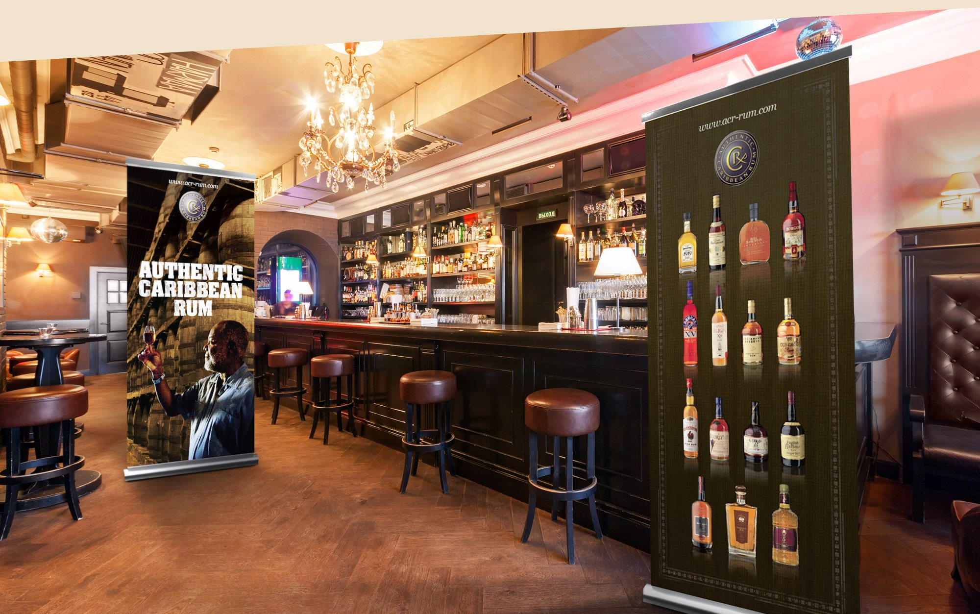 WIRSPA Rum Bar In-Store Banners Graphic Design