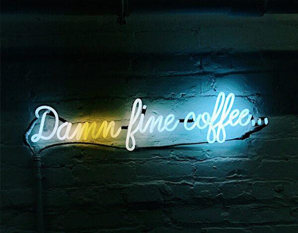 damn fine coffee neon sign