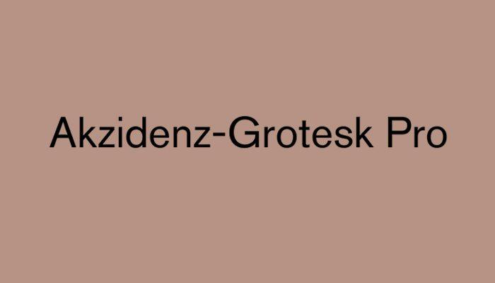 Akzidenz Grotesk Pro typeface
