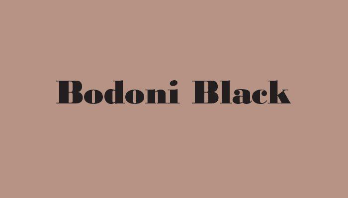 Bodoni Black typeface