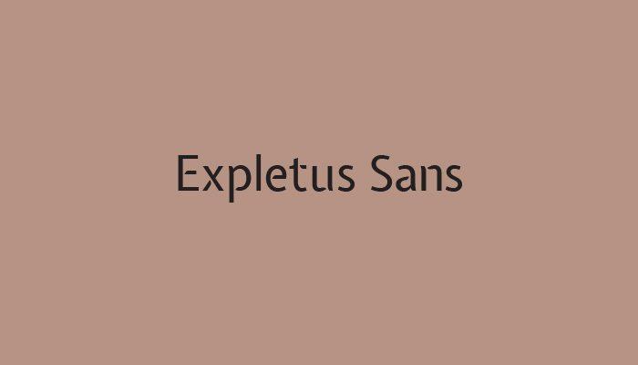 Expletus Sans typeface