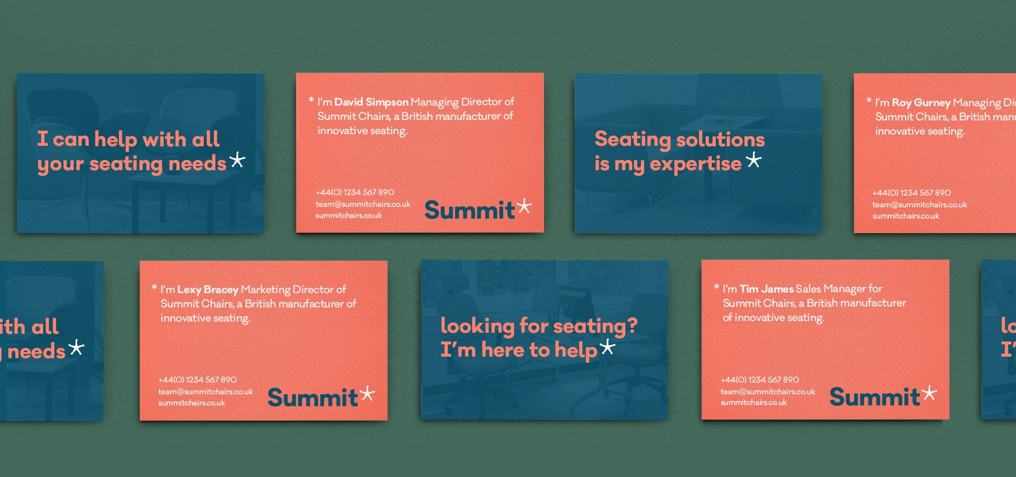 Summit chairs business card brand design lionhouse summit chairs business card brand design reheart Gallery